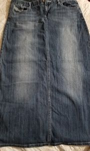 Maurices Denim Maxi Skirt